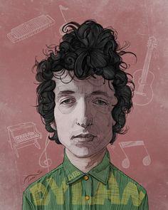 Bob Dylan Poster by Stavros Damos, via Behance