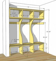 DIY Mudroom Lockers Plans