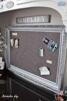 turn any frame into a pin cushion board (cork board)