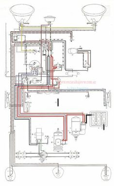 Wiring diagram VW beetle sedan and convertible 19611965