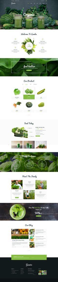 Gamba - Organic PSD Template • Download ➝ https://themeforest.net/item/gamba-organic-psd-template/16928343?ref=pxcr
