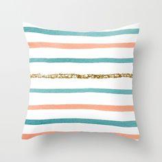 Sparkle Stripe Throw Pillow