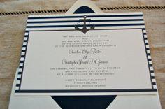 Sophisticated Nautical invitations