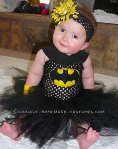Simple and Fun Homemade Bat-Baby Halloween Costume... This website is the Pinterest of costumes