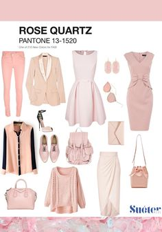 rose quartz look outfit clothes woman