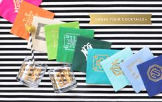 Monogram Cocktail Napkins from Emily McCarthy
