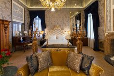 A luxury room at Palazzo Venart in Venice, Italy