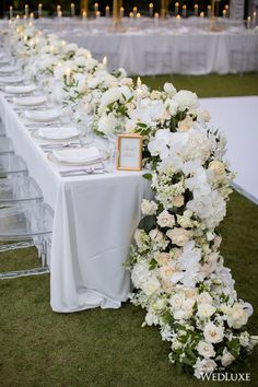 Top 5 Never Been Seen Wedding Table Centerpieces - Put the Ring on It Flower Runner Wedding, Wedding Table Flowers, Wedding Table Centerpieces, Wedding Decorations, Wedding Ideas, Wedding Inspiration, White Floral Centerpieces, Centerpiece Ideas, Budget Wedding