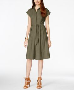 Vakko for INC International Concepts Faux-Suede Shirtdress, Only at Macy's - Dresses - Women - Macy's