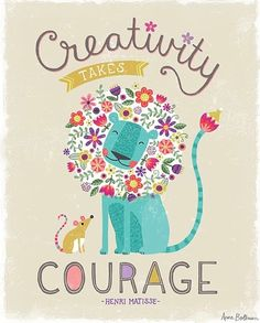 Courage Lion by Anne Was Here