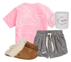 """goodnight"" by mackenziejameson ❤ liked on Polyvore featuring Vineyard Vines, H&M and UGG Australia << casual moment when you see your own polyvore set on Pinterest"