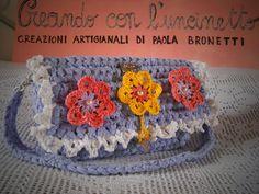 Creando con l'uncinetto...: Borsa color violet tulip (74)