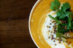 Curried Lentil Soup with Coconut milk