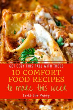 10 Comfort Food Recipes Perfect For Cool Weather & Cozy Nights - Comfort Food - Dinner - Recipes - Diner Ideas - Diner Recipes - Fall Food - Cozy Food  #comfortfood #recipe