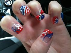 The Fourth of July Nail Designs 4th Of July Nails, July 4th, Get Nails, Hair And Nails, Colorful Nail Designs, Nail Art Designs, Freedom Wall, Patriotic Nails, Nail Techniques