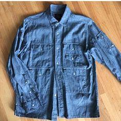 888832bd604ba Woolrich Woolen Mills chambray shirt. Designed by Daiki Suzuki. 20.5