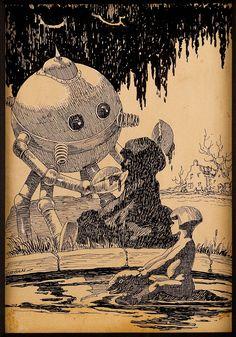 PAUL-ORBAN-American-1896-1974.-Science-Fiction-pulp-story-illustration.jpg (630×900)