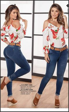 Pin by Magic Cola Fashion Corp on Nueva Coleccion Junio 2018 in 2019 Summer Fashion Outfits, Hot Outfits, Women's Fashion Dresses, Casual Outfits, Lace Jeans, Sexy Jeans, Casual Chic Summer, Girls Jeans, Jeans Style
