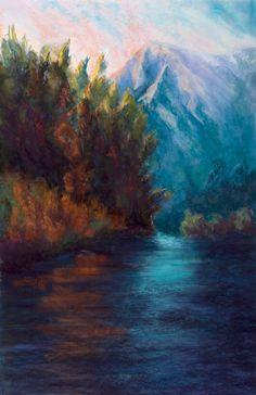 Original Pastel Painting  Framed  Large  by JudithPerryFineArt