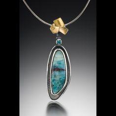 Lorimeg Designs | Peruvian opal, silver, 22 k bimetal