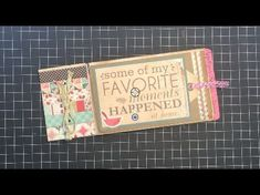 Easy Envelope Mini Pocket Album with Expanding Pages Binding What a great idea!!