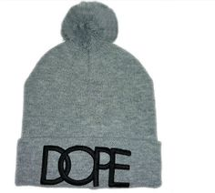 Beanie Style DOPE Hat Gray Or Black 0a54c165b043