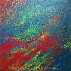 Pintura acrílico lienzo abstracto Original por ORIGINALARTbyANDREA