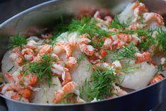 Smaskelismaskens: Lyxig torskgratäng med kräftstjärtar Fish And Seafood, Shrimp, Recipies, Food And Drink, Meat, Chicken, Recipes, Rezepte, Food Recipes