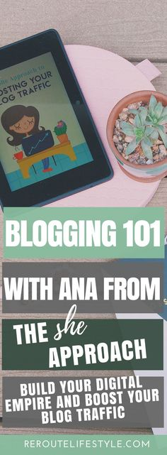 Bloggers, you will love this interview with Ana from the She Approach. She talks about tips to grow blog traffic, fears to overcome as a new blogger, ideas on how to write ebooks to make money, and her favorite tools for bloggers. If you want to grow your website traffic on your blog and make money online, don't miss this blogging interview with Ana!