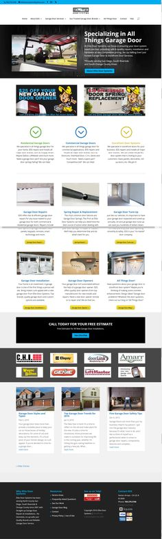 Garage door repair installation service serves San Diego and North County area. Residential commercial garage doors near me.