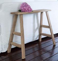 Handmade oak console benchmassive hard barn woodentryway | Etsy