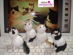 Cats handmade by wool