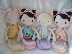 Made by my friend Mimi...adorable handmade cloth dolls