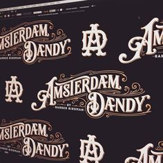 On first glance I read this as Amsterdandy. Awesome lettering by @tobiassaul - #typegang - typegang.com   typegang.com #typegang #typography