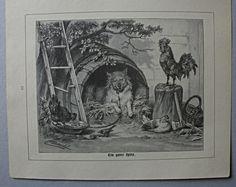 """Hunderasse Spitz.""""Ein guter Spitz"""" Holzstich nach C.Arnold um 1890 de.picclick.com"""