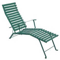 Cedar green Bistro Metal chaise longue by Fermob.