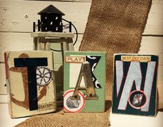 Stenciled Letter Blocks - Schnarr's Blog