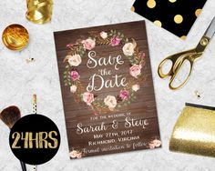 Save the date template - Save the date printable - Printable Save the Date Template - Save the date postcard - Wedding invitation template Postcard Wedding Invitation, Wedding Invitation Templates, Wedding Invitations, Save The Date Templates, Save The Date Postcards, Etsy App, Dating, Printables, Prints