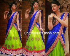 designer half sarees ,I like the colour combination