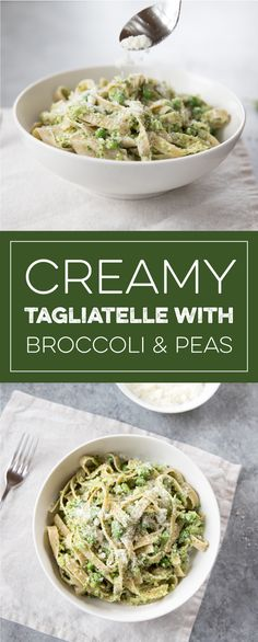 Learn how to make delicious Tagliatelle with Creamy Broccoli & Peas straight from the experts at Jovial Foods. Fun Food, Good Food, Yummy Food, Gluten Free Pasta, Nutritious Meals, Recipe Using, Broccoli, Food And Drink, Vegetarian