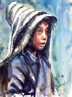 Adan J Cespedes #Watercolor Himalaya www.adanjcespedes.com
