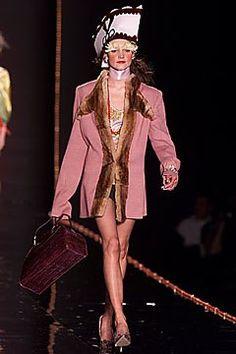 John Galliano Fall 2000 Ready-to-Wear Fashion Show - Lida Egorova, John Galliano