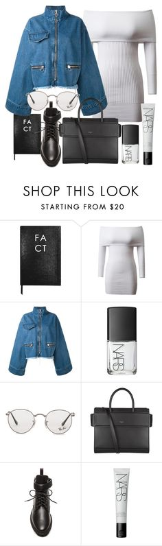 """""""Untitled #21011"""" by florencia95 ❤ liked on Polyvore featuring Sloane Stationery, Marques'Almeida, NARS Cosmetics, Ray-Ban, Givenchy and Balenciaga"""
