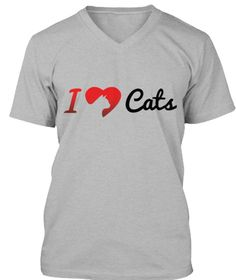 I Love Cats T Shirt – Denisdaily Athletic Heather T-Shirt Front