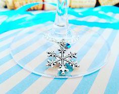4 Snowflake Wine Glass Markers Christmas Wine Gift Wine Glass