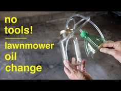 LAWNMOWER OIL Change ● the Simple Way ( no wrenches ! ) - YouTube