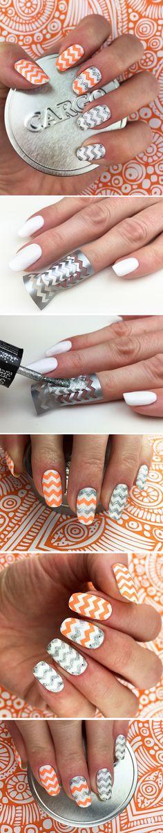 Zigzag Way Nail Art Stencils - incredible nail art vinyls by Unail