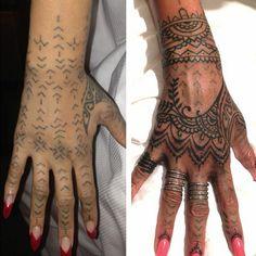 Rihanna Reveals New Henna-Inspired Hand Tattoo By Bang Bang