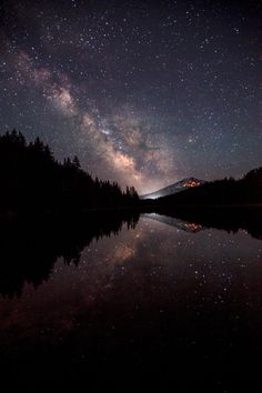 lanatura: Milky Way Over Mt. Bachelor - Mitch Darby