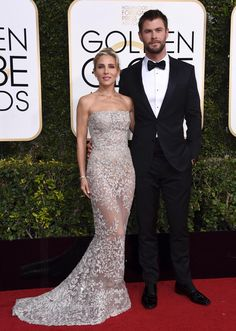Golden Globes 2017 Elsa Pataky, left, and Chris Hemsworth arrive at the 74th annual Golden Globe Awards at the Beverly Hilton Hotel on Sunday, Jan. 8, 2017.
